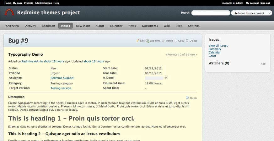 Redmine Themes - Redmine Themes Directory